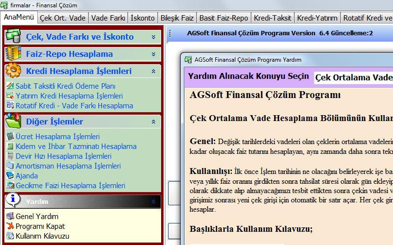 Agsoft Finansal Çözüm Programı