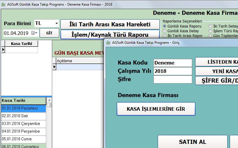 AGSoft Günlük Kasa Takip Programı