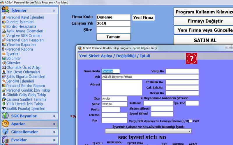 AGSoft Personel Takip ve Bordro Hesaplama Yazılımı