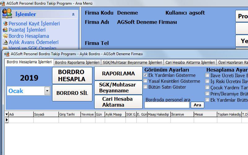 Agsoft Personel ve Bordro Takip Programı