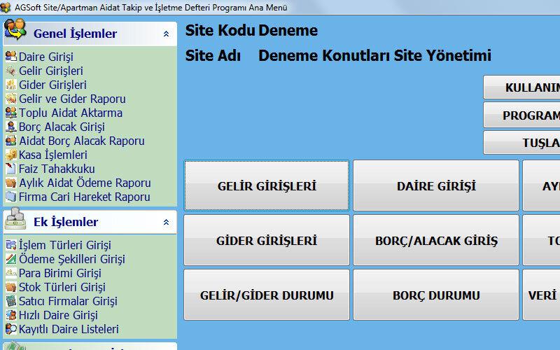 AGSoft Site veya Apartman Aidat Takip Programı