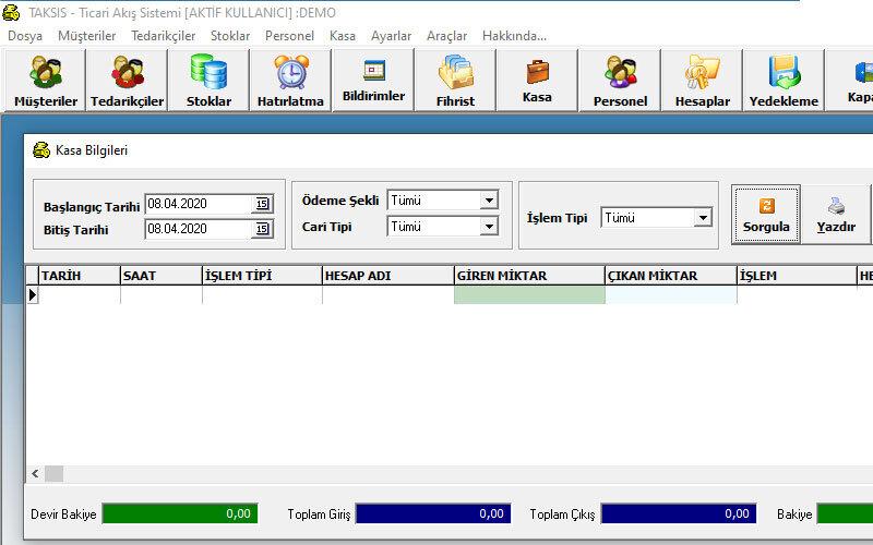 AkareSoft Taksis Muhasebe Programı
