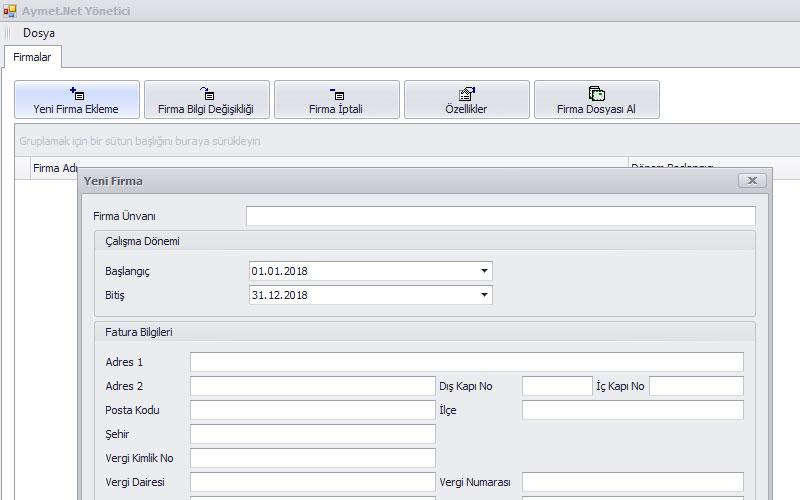 Aymet.Net Erp (Kurumsal Kaynak Planlaması) Programı