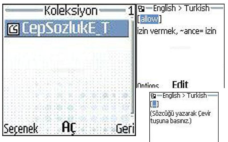 Cepvakit Cep Sözlük Java Telefonlar için Sözlük