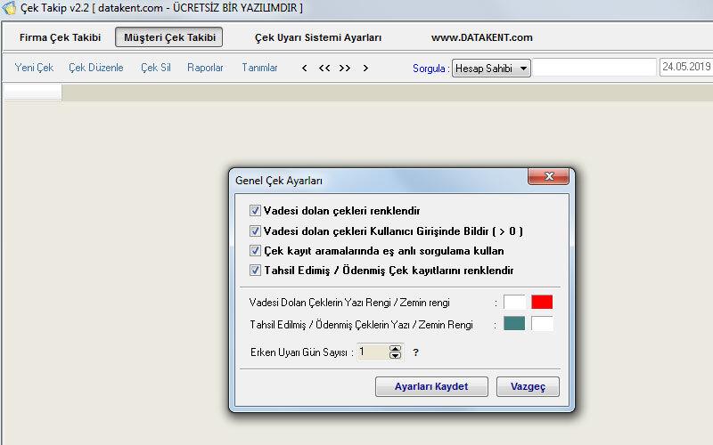 Datakent Çek Takip Programı – Ücretsiz