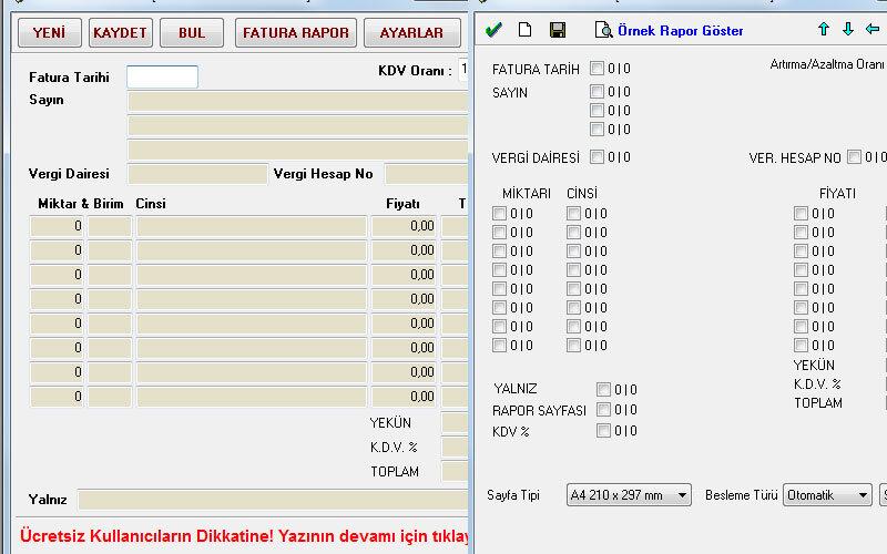 Datakent Fatura Takip Programı – Ücretsiz Tam Sürüm Fatura Takip Programı