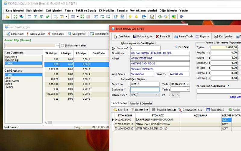Datakent Ticari Otomasyon SQL