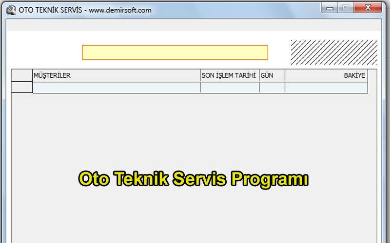 Demirsoft Oto Teknik Servis Programı