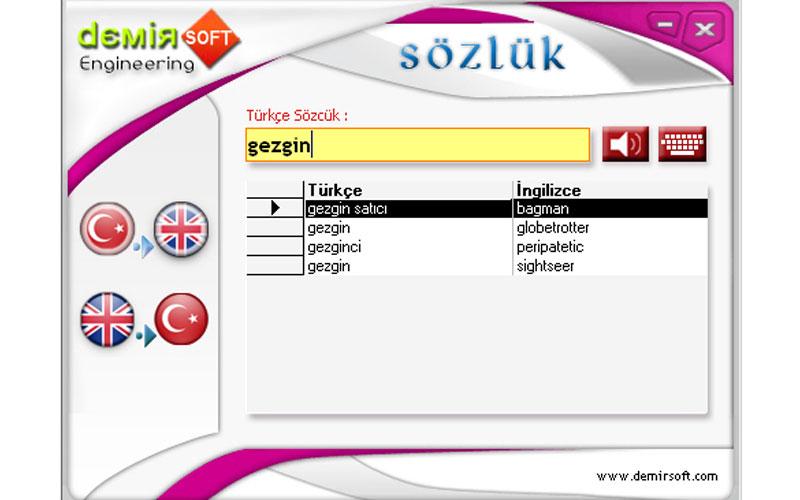 Demirsoft Türkçe İngilizce Sözlük – Ücretsiz Sözlük