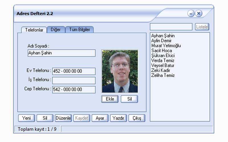 E-Çözüm Adres Defteri Programı – Ücretsizdir!