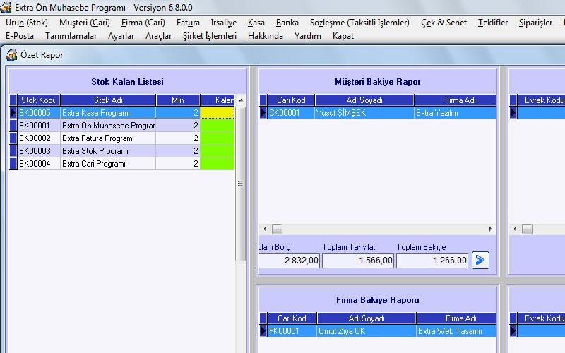 Extra Excel Muhasebe – Excel Formülleri ile Muhasebe Programı