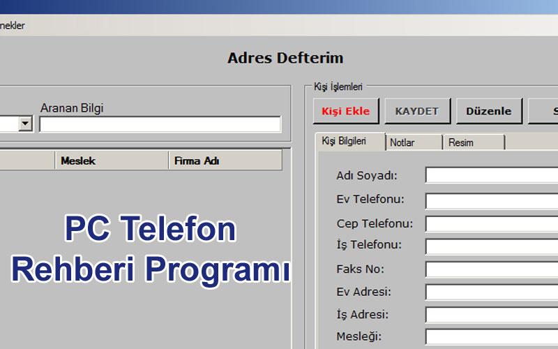 Fenesoft Adres Defteri – PC Telefon Rehberi