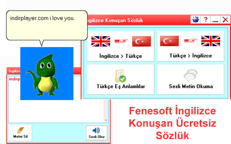 Fenesoft İngilizce Konuşan Ücretsiz Sözlük