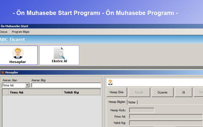 Fenesoft Ön Muhasebe Start Programı