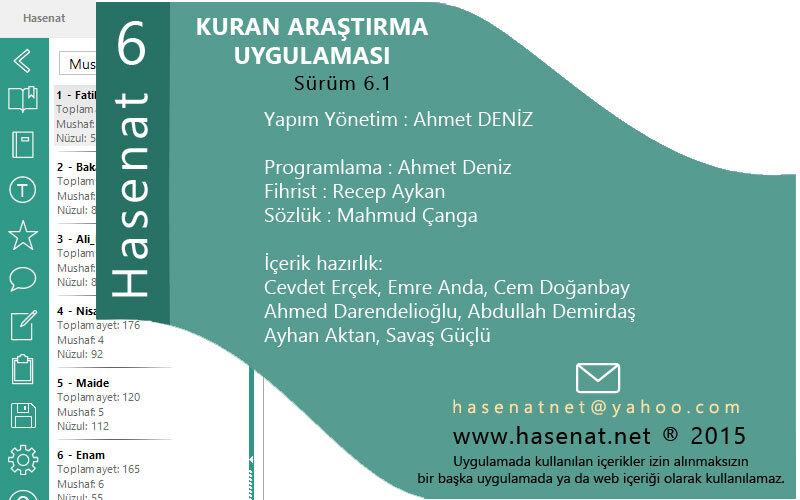 Hasenat Programı – Kuran-ı Kerim Türkçe Araştırma