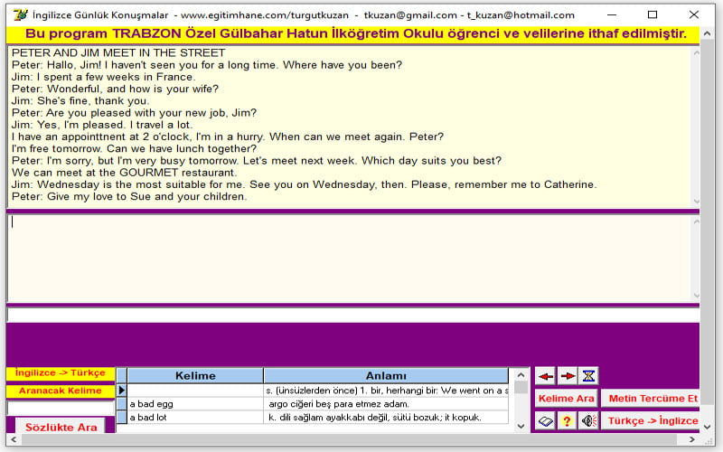 İngilizce Günlük Konuşmalar CHM Yardım ve Exe Formatında Ücretsiz