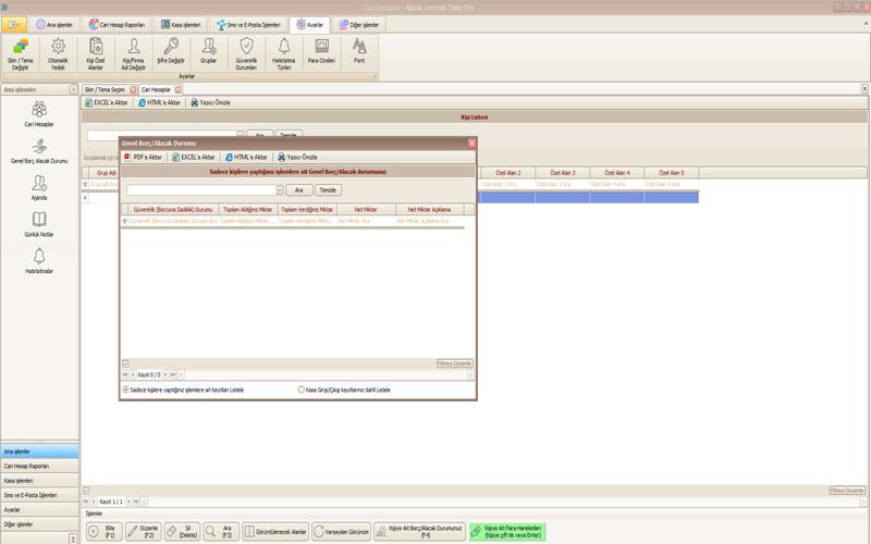 İstek Yazılım Profesyonel Alacak Verecek Takip Programı