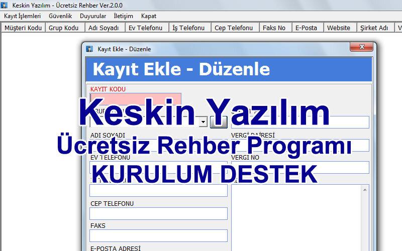 Keskin Yazılım Ücretsiz Rehber Programı
