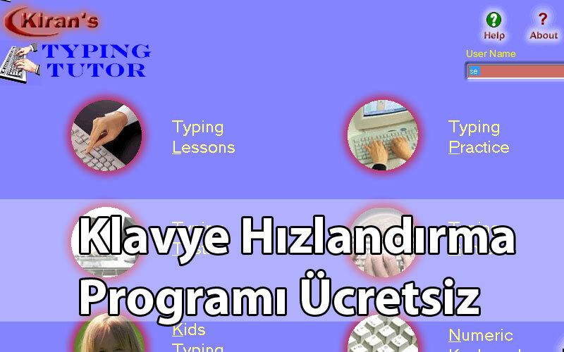 Kiran's Typing Tutor – Klavye Hızlandırma Programı Ücretsiz