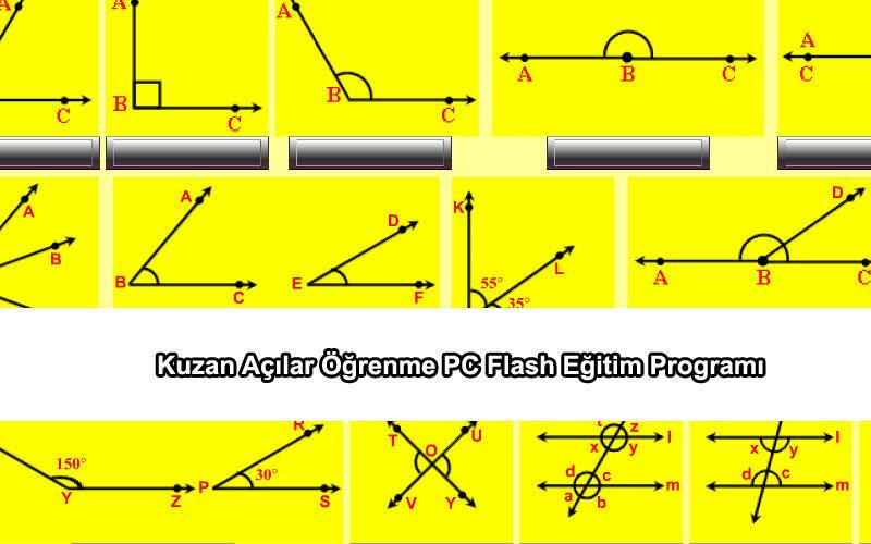 Kuzan Açılar Öğrenme PC Flash Eğitim Programı