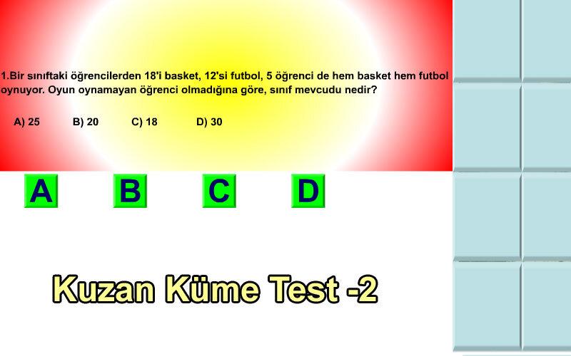 Kuzan Küme Test -2