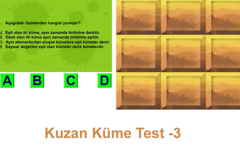 Kuzan Küme Test -3