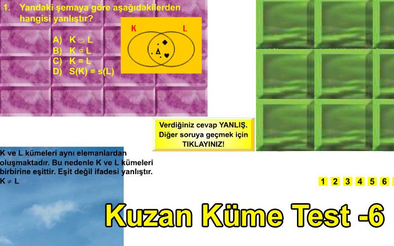 Kuzan Küme Test -6