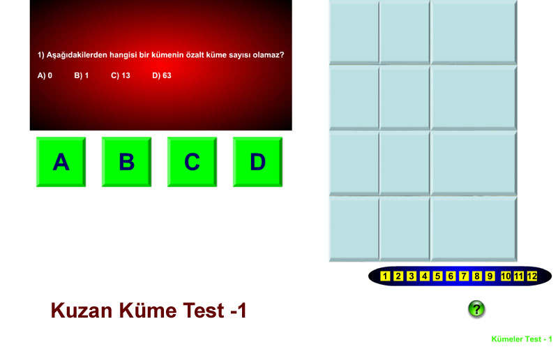 Kuzan Küme Test -1