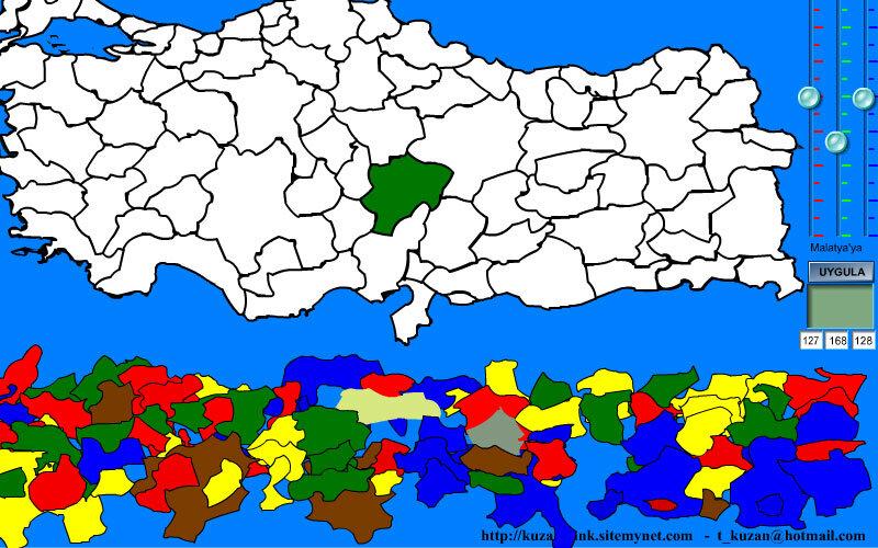 Kuzan Türkiye Haritası Şehir Bulma Eğitim Uygulaması
