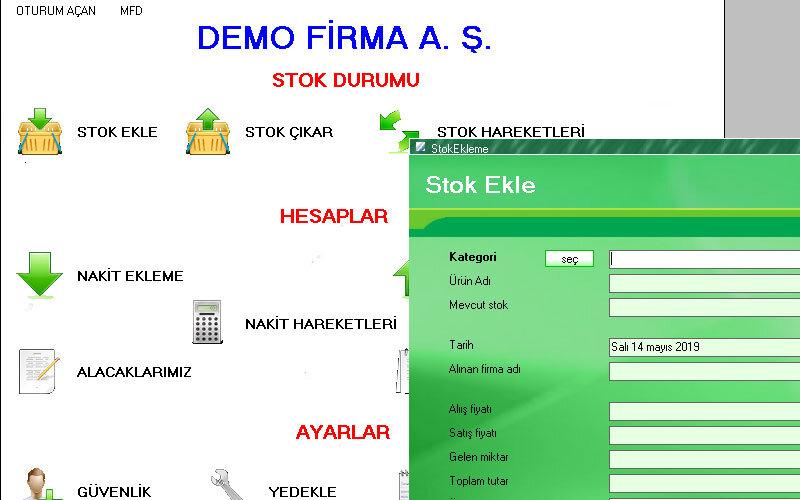 MFD Stok Takip Programı