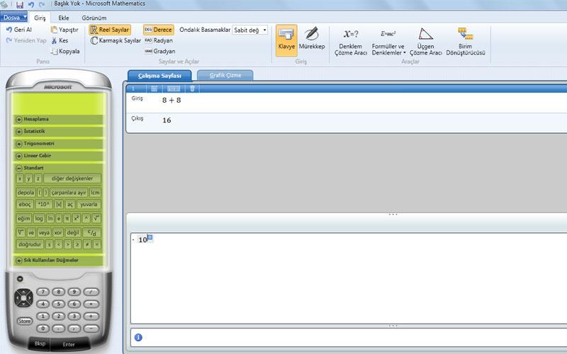 Microsoft Mathematics – Microsoft Matematik Hesap Makinesi