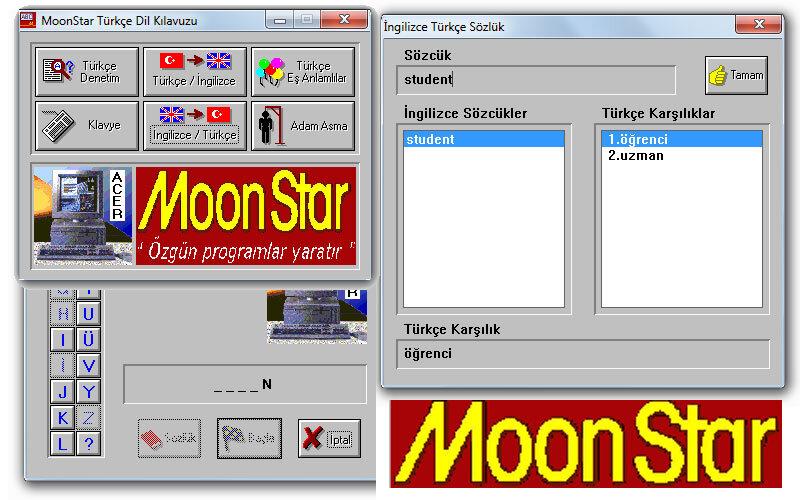 Moonstar (MTU) Sözlük Programı