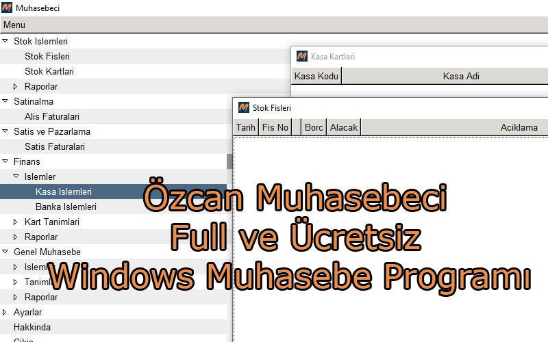 Özcan Muhasebeci – Full ve Ücretsiz Windows Muhasebe Programı