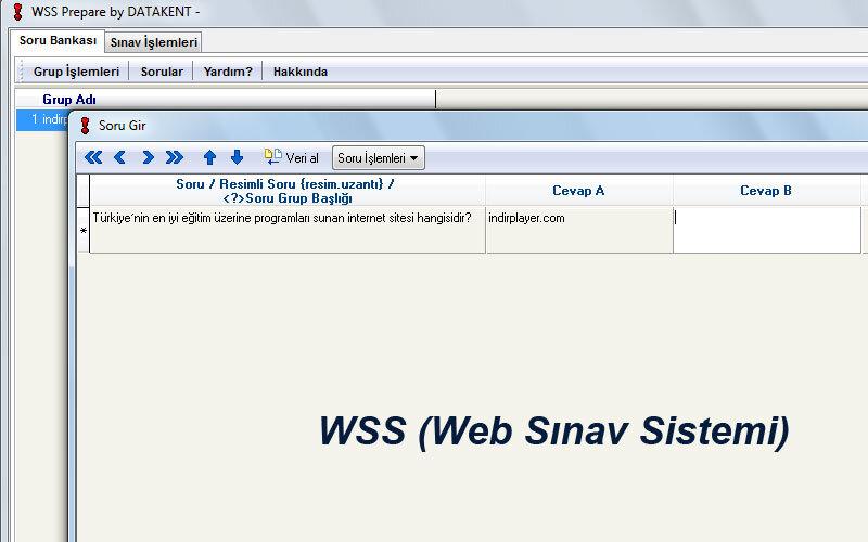 WSS (Web Sınav Sistemi) – Öğretmenlere Web Sınav Hazırlama Programı