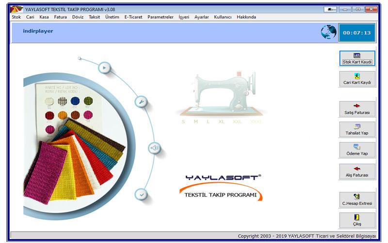 Yaylasoft Tekstil Takip Programı